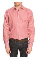 Hackett Classic Formal Red Striped Shirt - Lyst
