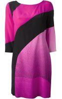 Diane Von Furstenberg Diagonal Striped Dress - Lyst