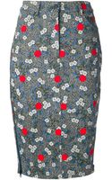 Opening Ceremony Floral Print Pencil Skirt - Lyst