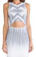 Torn By Ronny Kobo Yonal Maze Print Dress - Lyst