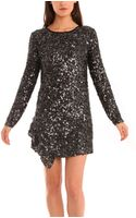 3.1 Phillip Lim Sequin Shift Dress - Lyst