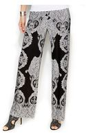 Inc International Concepts Petite Printed Wideleg Soft Pants - Lyst