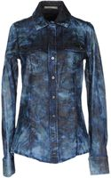 Patrizia Pepe Denim Shirt - Lyst