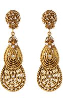 Jose & Maria Barrera Gold-plated Flower Clip-on Earrings with Crystals - Lyst