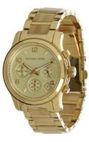 Michael Kors Gold Stainless Steel Womens Runaway Chronograph Watch - Lyst