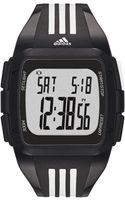 Adidas Unisex Digital Duramo White and Black Polyurethane Strap Watch 50mm - Lyst