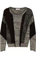 Helmut Lang Color-block Linen-blend Sweater - Lyst