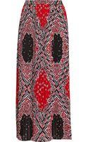 MICHAEL Michael Kors Bandana-print Crepe Maxi Skirt - Lyst