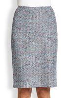 St. John Metallic Tweed Pencil Skirt - Lyst