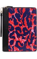 Diane Von Furstenberg Heritage Print Zip Around Leather Ipad Case - Lyst