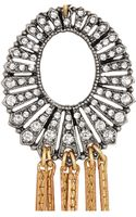 Lulu Frost Bronzetone Crystal Necklace - Lyst