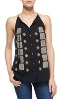 Joie Danielle Embroidered Tank Top - Lyst