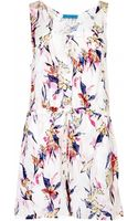 Matthew Williamson Tropical Party Print Playsuit - Lyst
