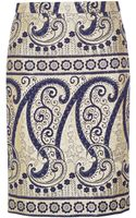 J.Crew Collection Paisleyjacquard Pencil Skirt - Lyst