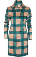 Emilia Wickstead Vivienne Plaid Silkorganza Mini Dress - Lyst