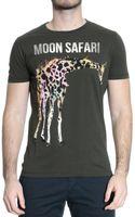 Iceberg Tshirt Short Sleeve Roundneck Print Safari - Lyst