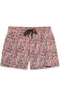 Dan Ward Shortlength Printed Swim Shorts - Lyst