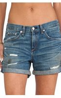 Rag & Bone Boyfriend Short - Lyst