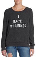Wildfox I Hate Mornings Sweatshirt - Lyst