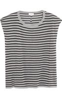 Saint Laurent Striped Fineknit Wool Top - Lyst