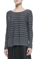 Vince Striped Bateau Neck Sweater - Lyst