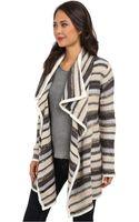Kensie Tissue Knit Cardigan - Lyst