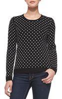 Sofia Cashmere Polka-dot Cashmere Sweater - Lyst