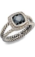 David Yurman Diamond Accented Hematite Sterling Silver Ring - Lyst