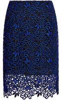 Oscar de la Renta Giupure Lace Skirt - Lyst