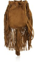 Antik Batik Bertil Fringed Suede Shoulder Bag - Lyst