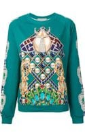 Mary Katrantzou Jeweled Print Sweatshirt - Lyst