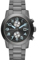 Marc By Marc Jacobs Mens Chronograph Larry Gunmetaltone Stainless Steel Bracelet Watch 46mm - Lyst