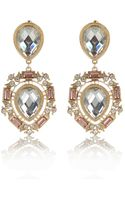 River Island Gold Tone Teardrop Gem Stone Earrings - Lyst