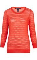 Marc By Marc Jacobs Textured Knit Cotton Blend Jumper - Lyst