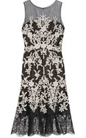 Oscar de la Renta Embellished Embroidered Tulle Midi Dress - Lyst