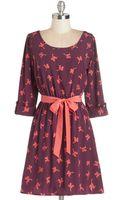 Peach Love Cream Southwestern Story Dress in Birds - Lyst