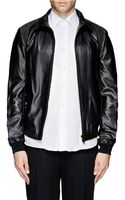 Mauro Grifoni Leather Bomber Jacket - Lyst