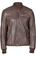 7 For All Mankind Leather Jacket - Lyst