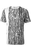 Balenciaga Abstract Stripe Print Tshirt - Lyst