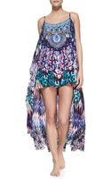 Camilla Silk Highlow Coverup Dress - Lyst