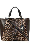 Diane Von Furstenberg 440 Runaway Leopard Haircalf Tote - Lyst