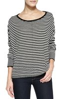 Alice + Olivia Boxy Ribbed Striped Sweater - Lyst