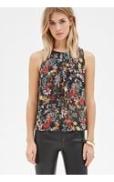 Forever 21 Floral  Butterfly Print Top - Lyst