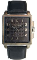 Ben Sherman Black Leather Look Strap Watch Bs029 - Lyst