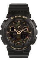 G-shock Ga100cf1a9er Camouflage Watch Beige - Lyst