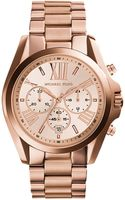 Michael Kors Oversized Bradshaw Rose Goldtone Stainless Steel Watch - Lyst