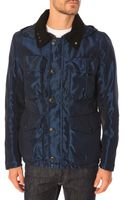 C P Company Blue Down Jacket with Removable Linine - Lyst