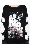 Wildfox Baggy Oversized Sweatshirt with Floral No9 Print - Lyst