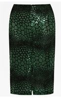 French Connection Croc Flock Textured Pencil Skirt - Lyst
