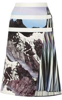 Peter Pilotto Printed Stretch Woven Skirt - Lyst